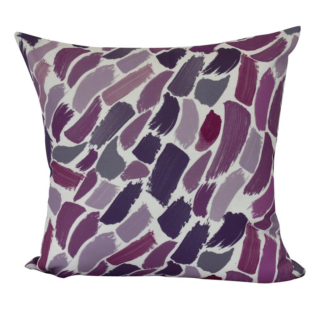 Wenstry Purple Geometric 20 in. x 20 in. Throw Pillow