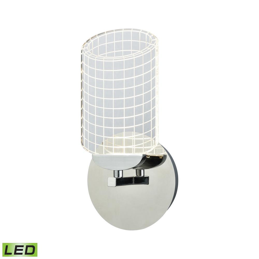 Lightlines 1-Light 60-Watt Polished Chrome Integrated LED Sconce