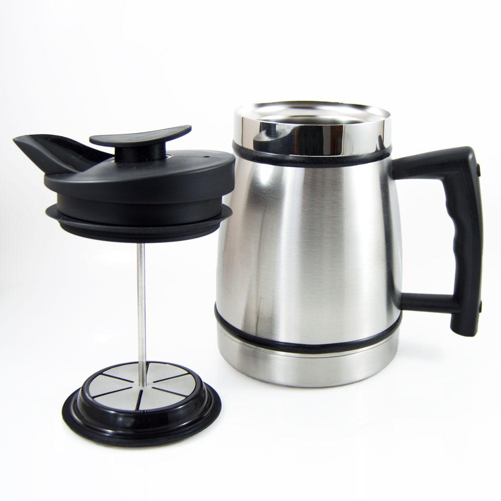 8 Cup French Press In Stainless Steel, Brushed Stainless Steel