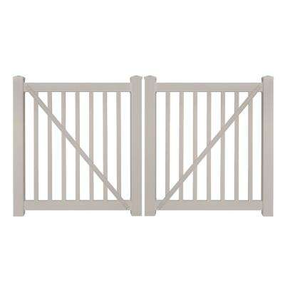 Neptune 8 ft. W x 4 ft. H Tan Vinyl Pool Fence Double Gate