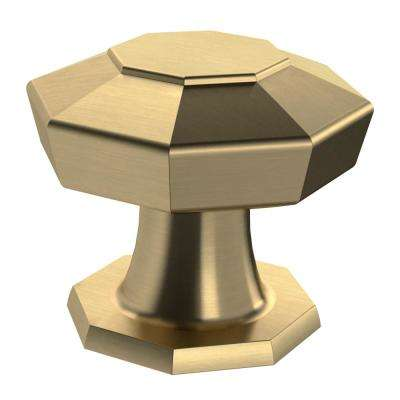 Faceted 1-3/16 in. (30mm) Champagne Bronze Metal Cabinet Knob