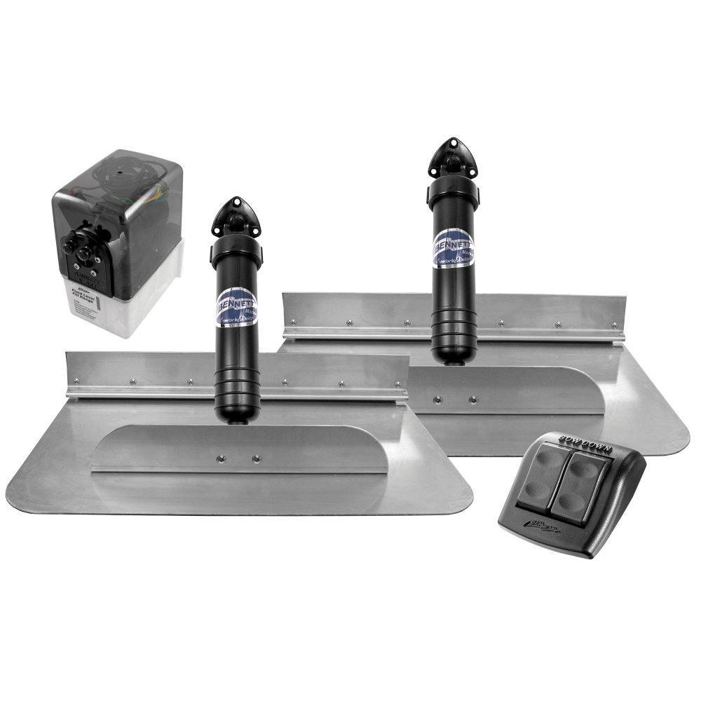 18 in. x 12 in. Hydraulic Trim Tab Set with Euro-Style Control