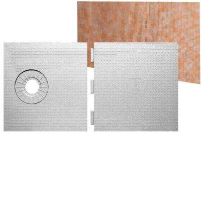 Kerdi-Shower 32 in. x 60 in. Off-Center Drain Shower Tray