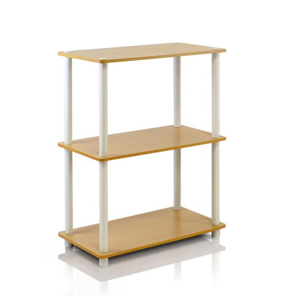 Turn-N-Tube Beech Compact Open Bookcase