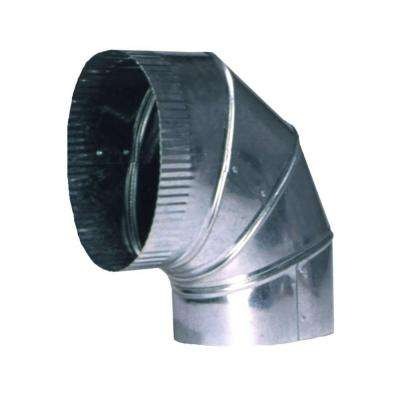 6 in. 90-Degree Oval Flat Elbow