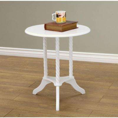 Round White End Tables Accent Tables The Home Depot