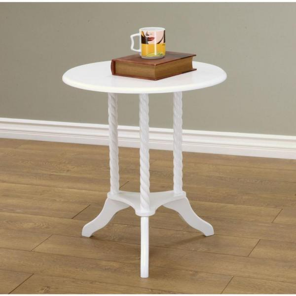 Homecraft Furniture White End Table MH-8WH