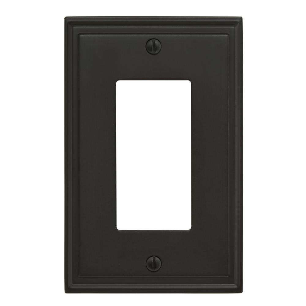 Mulholland 1-Rocker Wall Plate, Black Bronze
