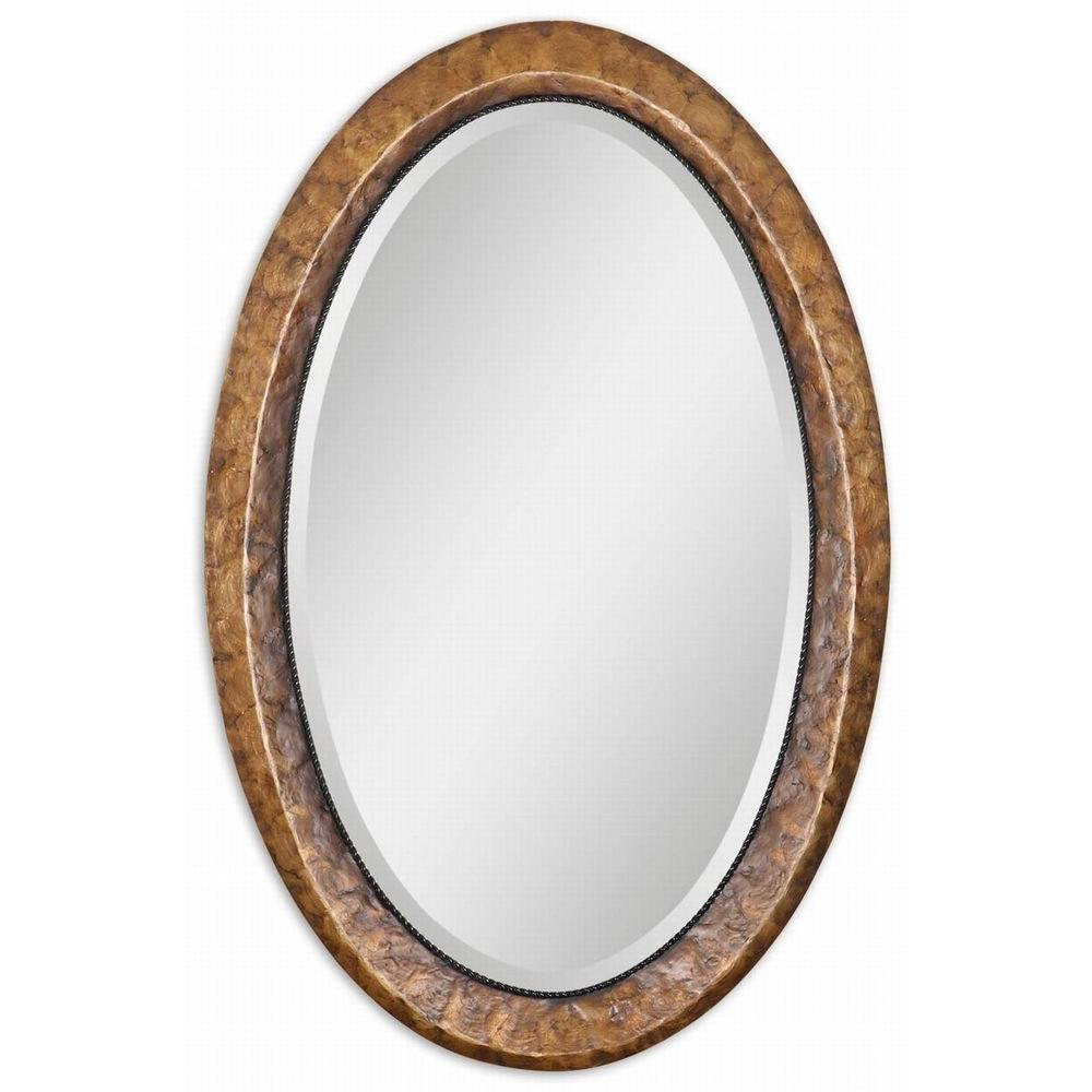 Global Direct 22 in. x 34 in. Capiz Resin Framed Mirror