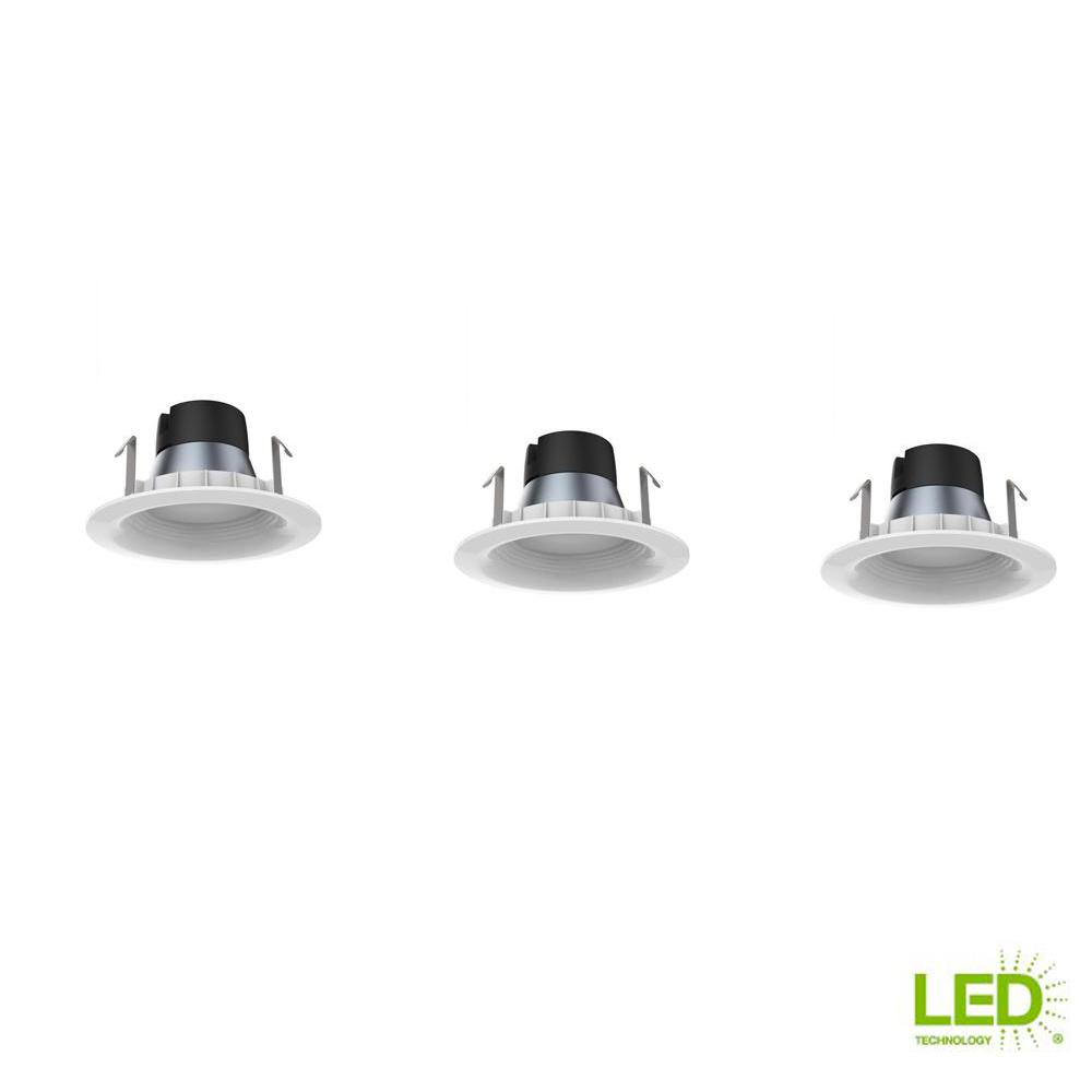 Ecosmart 4in White Integrated Led Recessed Trim 3 Pack