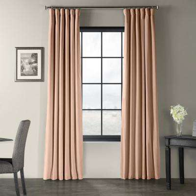 Signature Rosey Dawn Pink Blackout Velvet Curtain - 50 in. W x 96 in. L