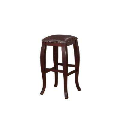 Linon Home Decor San Francisco 30 In Brown Wenge Cushioned Bar Stool 178205brn01 The Home Depot