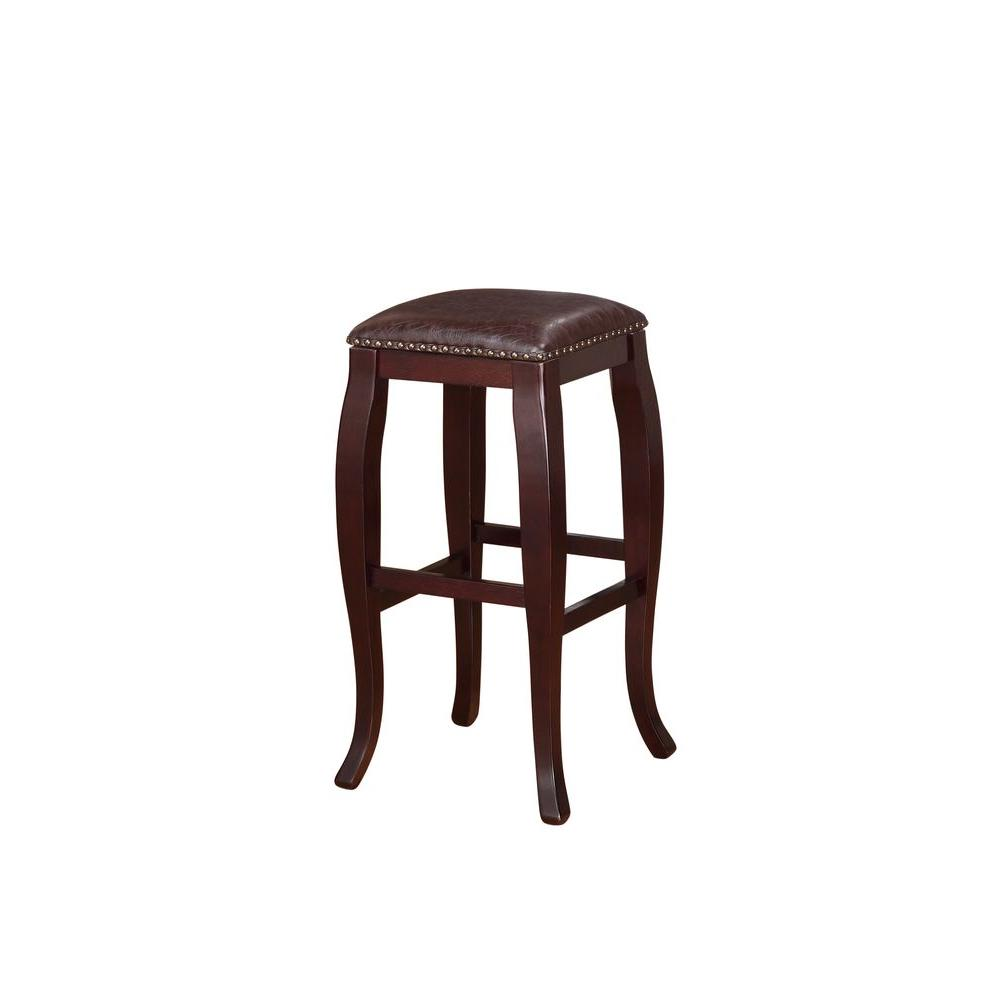 Home Decorators Collection 30 In Dark Brown Cushioned Bar
