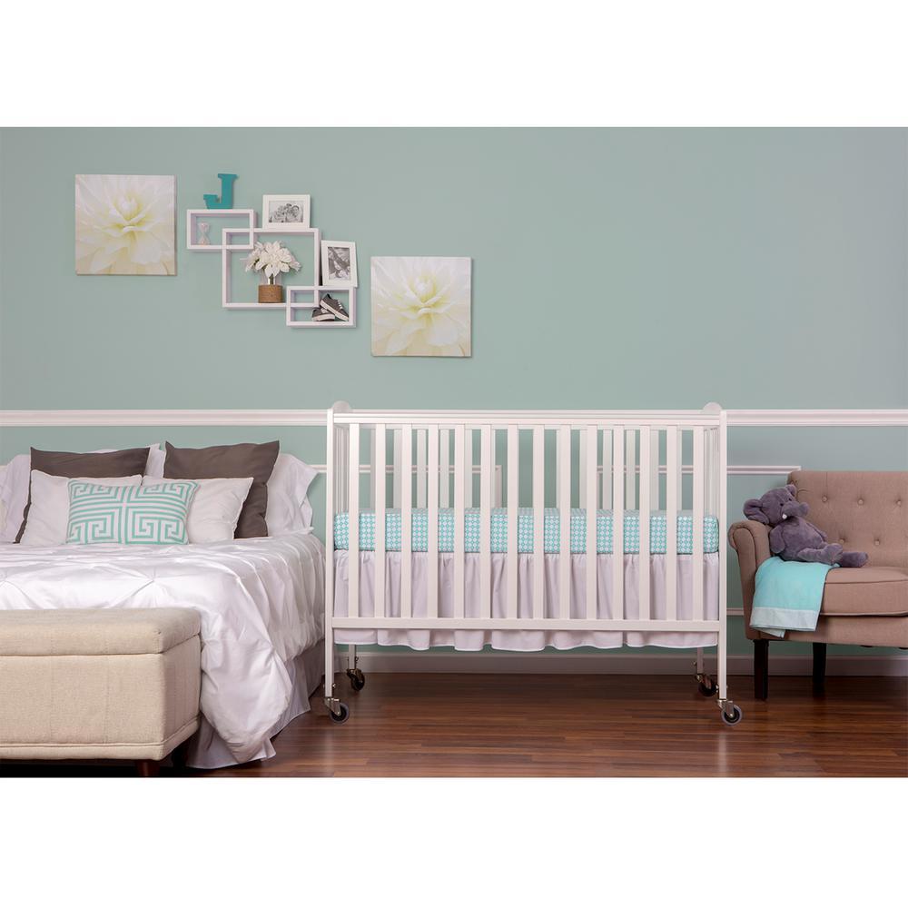 Dream On Me White Folding Full Size Crib