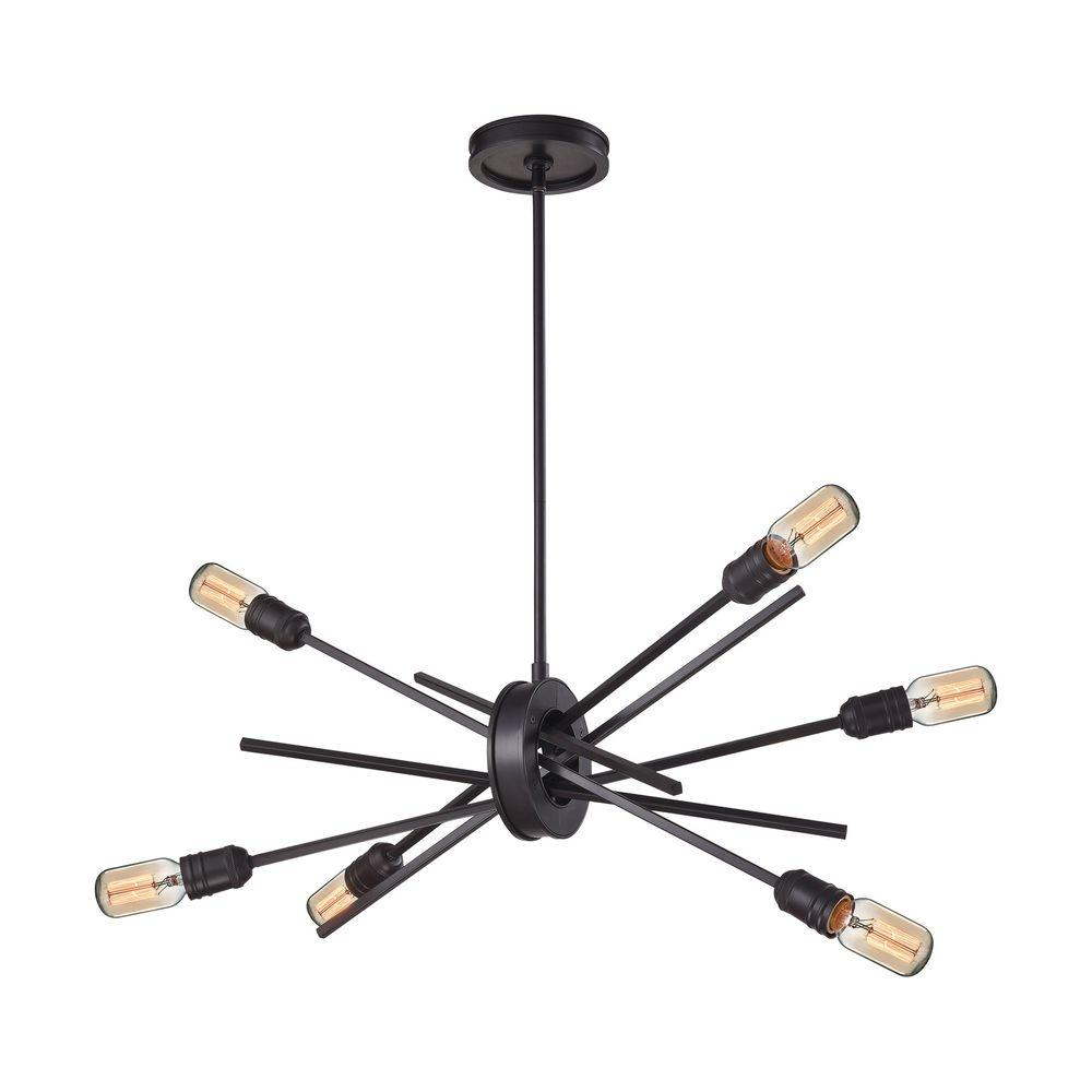 Xenia 6-Light Oil Rubbed Bronze Chandelier