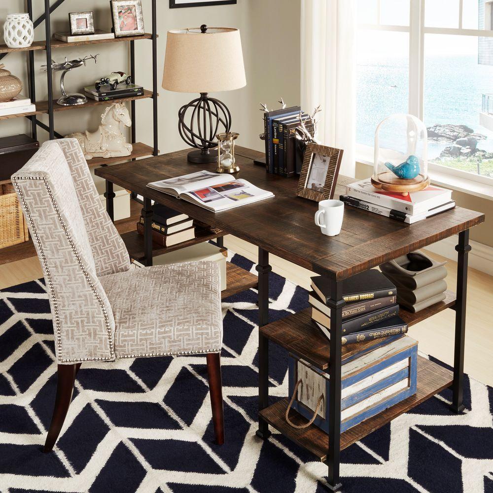 HomeSullivan Grove Distressed Cocoa Desk 403228BR 15C3A