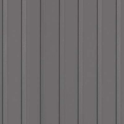 Rib 8.5 ft. x 22 ft. Slate Grey Vinyl Garage Flooring Cover and Protector