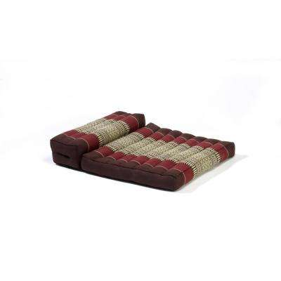 Brown and Burgundy Dhyana Floor Living and Meditation Cushion