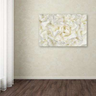 """30 in. x 47 in. """"White Peony Flower"""" by Cora Niele Printed Canvas Wall Art"""