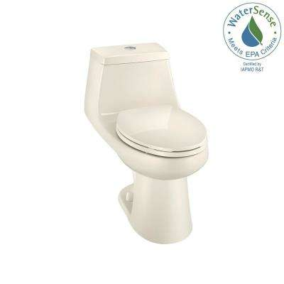 1-piece 1.1 GPF/1.6 GPF High Efficiency Dual Flush Elongated All-in-One Toilet in Biscuit