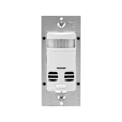 Dual-Relay Multi-Technology Wall Switch Motion Sensor, White