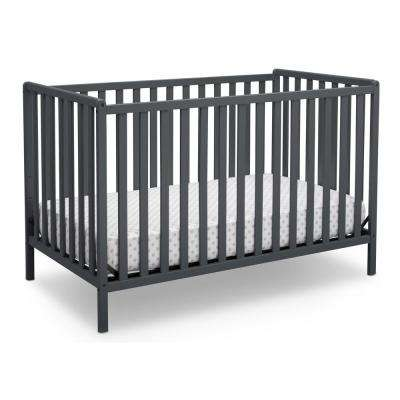 Heartland Charcoal Grey 4-in-1 Convertible Crib