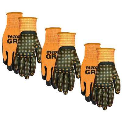 Men's Max Grip Gloves 3 Pack