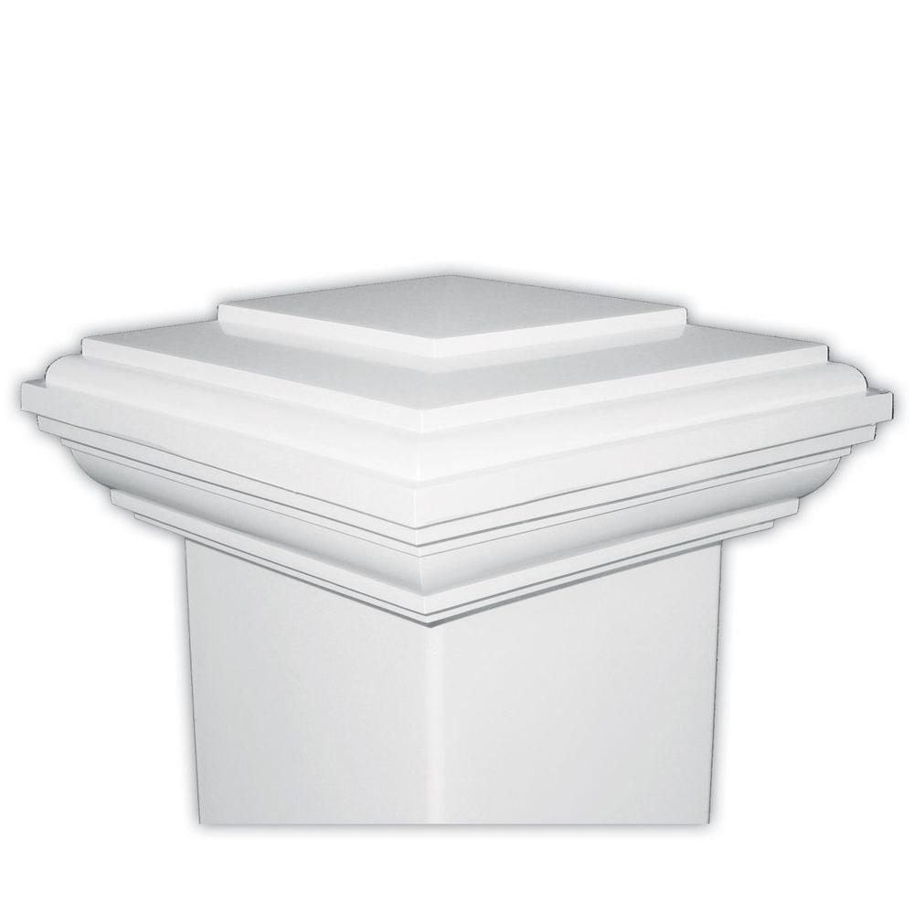 Veranda 4 in. x 4 in. Composite Post Sleeve Cap in White