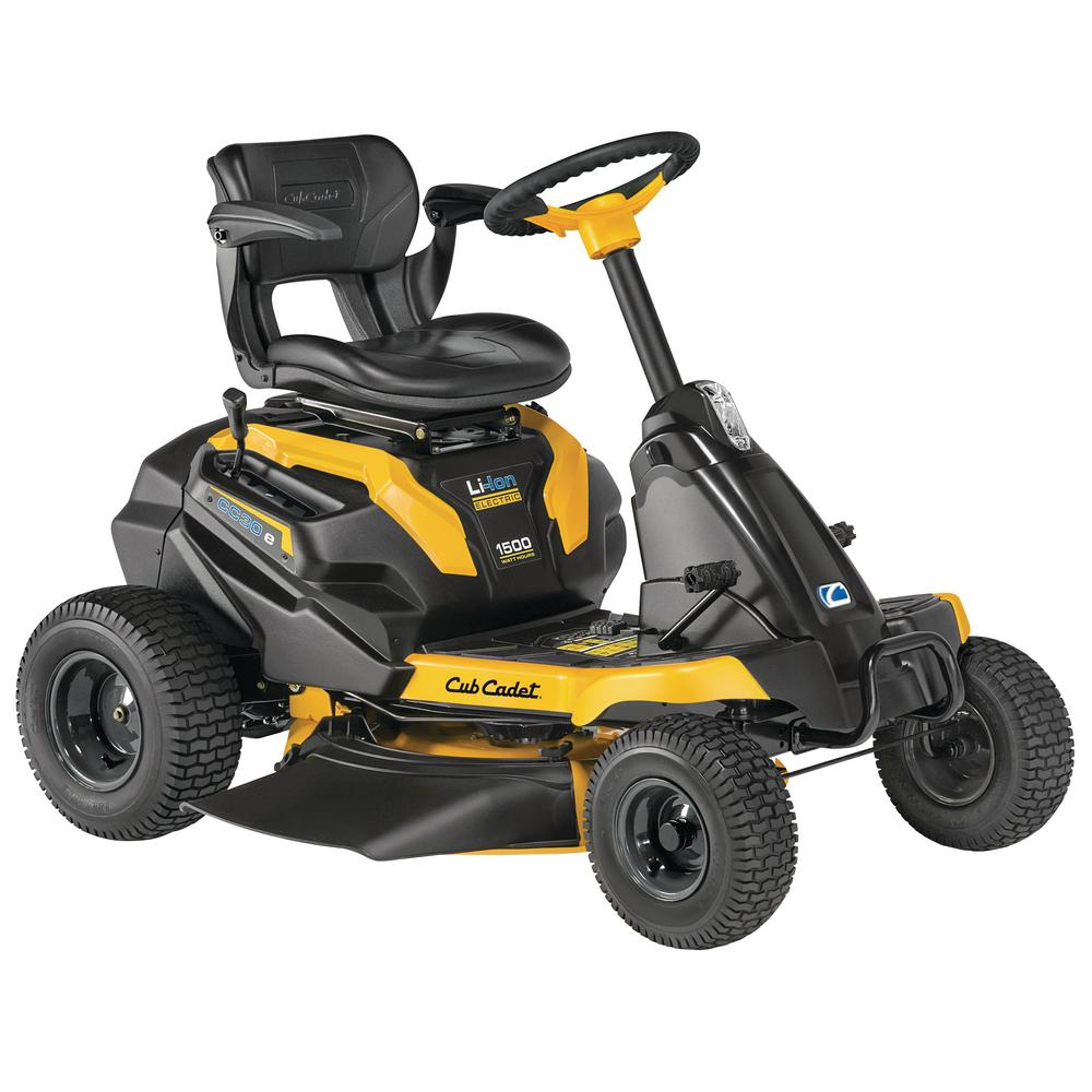 Cub Cadet 30 in. 56-Volt 30 Ah Battery Lithium-Ion Electric Rear Engine Riding Mower with Mulch Kit Included