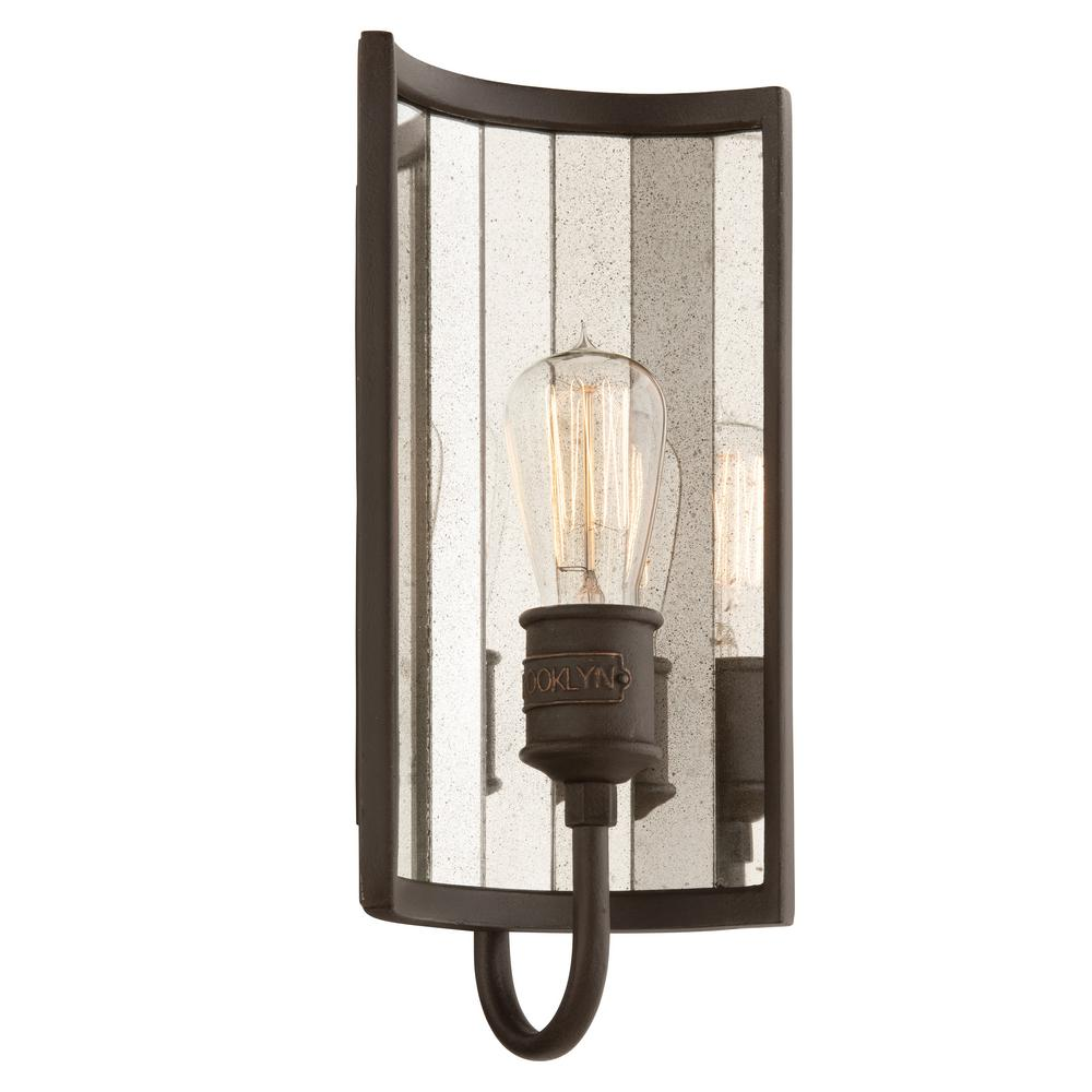 Troy Lighting Brooklyn 1-Light Brooklyn Bronze Wall Sconce