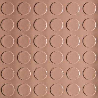 10 ft. x 24 ft. Coin Commercial Grade Sandstone Garage Floor Cover and Protector