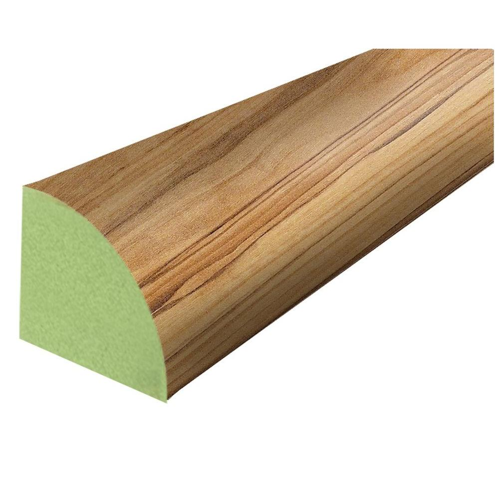 DuPont Augusta Pecan 3/4 in. Thick x 3/4 in. Wide x 94 in. Length Laminate Quarter Round Molding