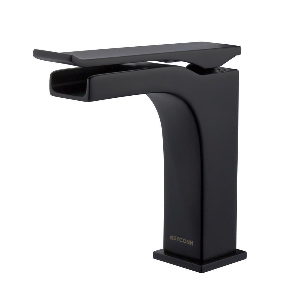 Beck Single-Hole Single-Handle Bathroom Faucet in Black