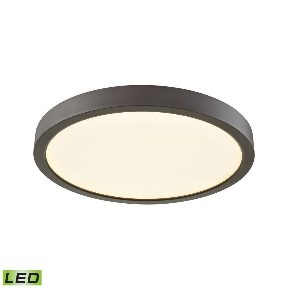 Titan 100-Watt Oil Rubbed Bronze Integrated LED Flushmount