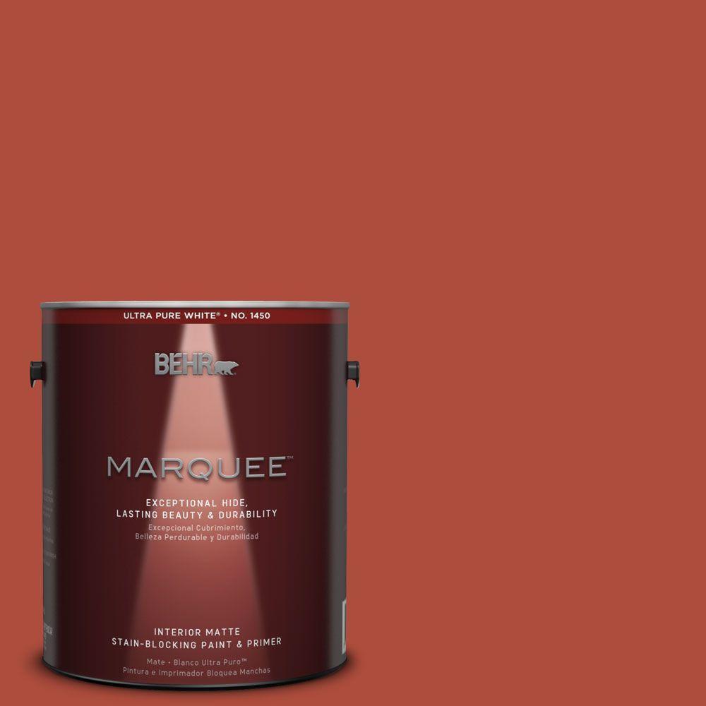 Behr Marquee 1 Gal Mq4 35 Torch Red One Coat Hide Matte