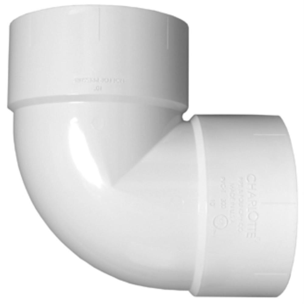8 in. PVC DWV Vent 90-Degree Hub x Hub Elbow Fitting