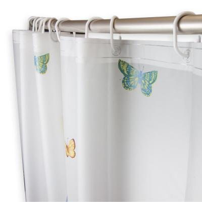 71 in. x 71 in. Tranquil Floating Butterflies Shower Curtain