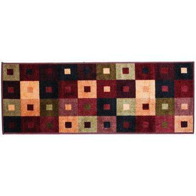 Squares Multi-Color 2 ft. x 5 ft. Indoor Mat