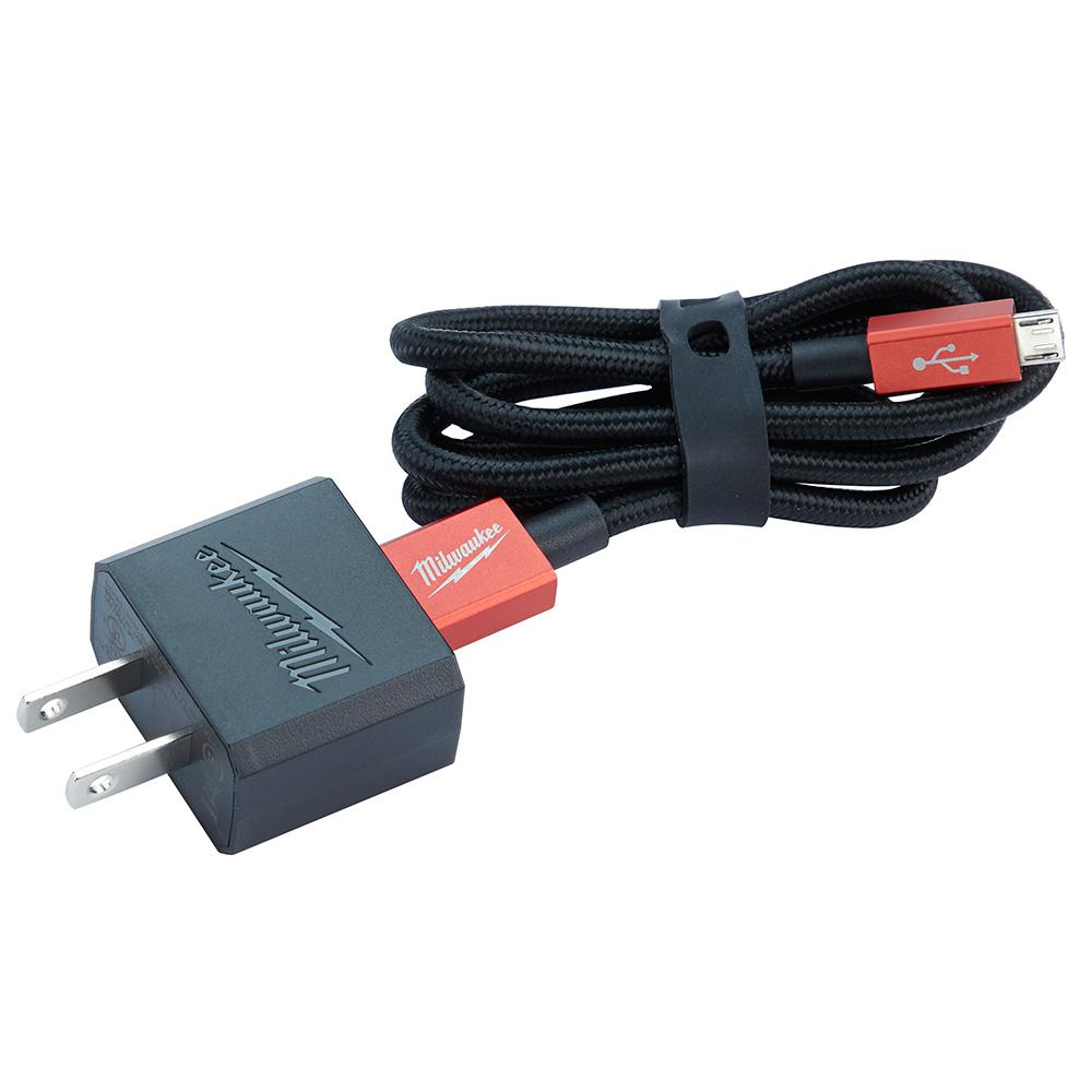 M12 3 Ft. Micro-USB Cable and 2.1A Wall Charger