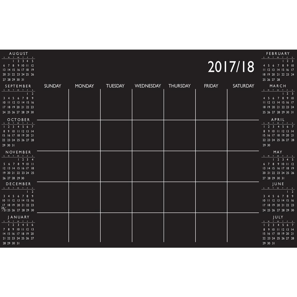 Black Academic Calendar 2017-18