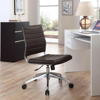 Faux Leather Industrial Office Chairs Home Office Furniture The Home Depot