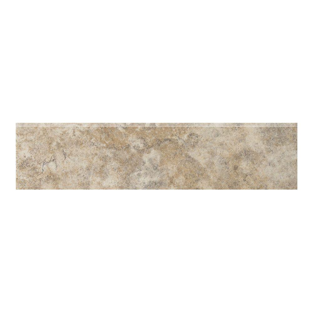 Campione 3 in. x 13 in. Sampras Porcelain Bullnose Floor and