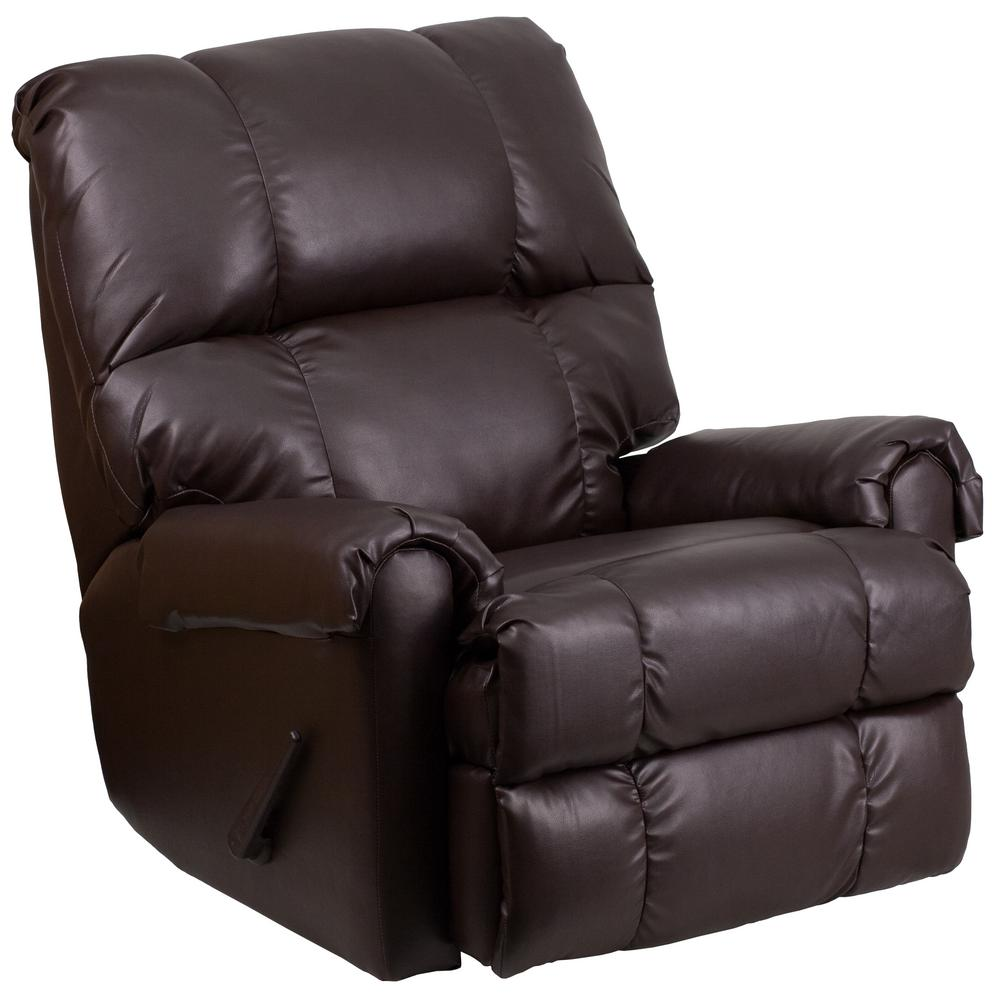 Great Flash Furniture Contemporary Ty Chocolate Leather Rocker Recliner