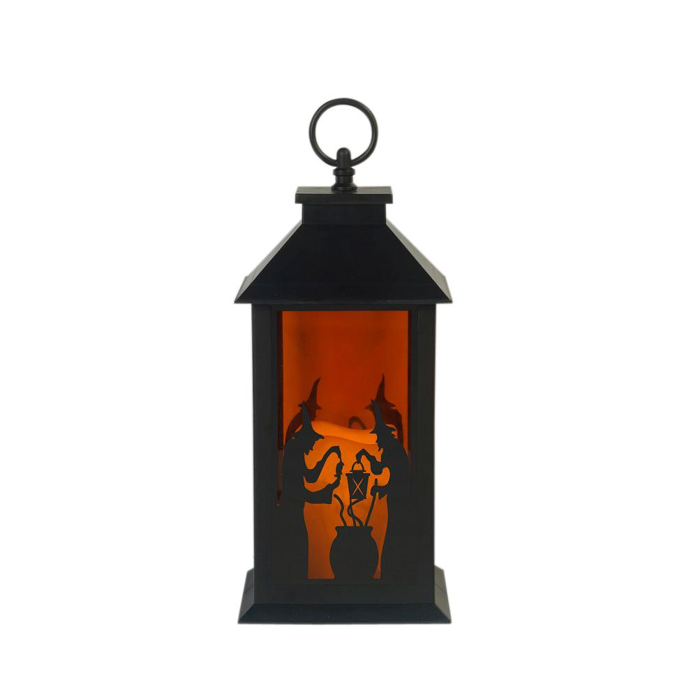 Home Accents Holiday 12 in. LED Plastic Lantern Witches