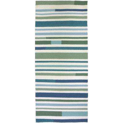 Teal - Runner 1\'-2\' - Outdoor Rugs - Rugs - The Home Depot
