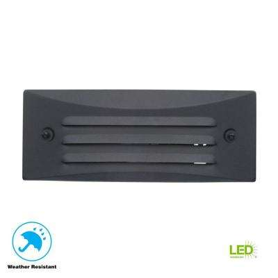 Low-Voltage Black Outdoor Integrated LED Full Brick Deck or Step Light