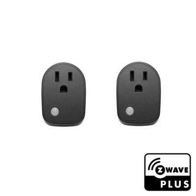Z-Wave Plus Smart Outlet Plug (Pack of 2)