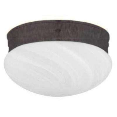 Furby 2-Light Oil Rubbed Bronze Flush Mount