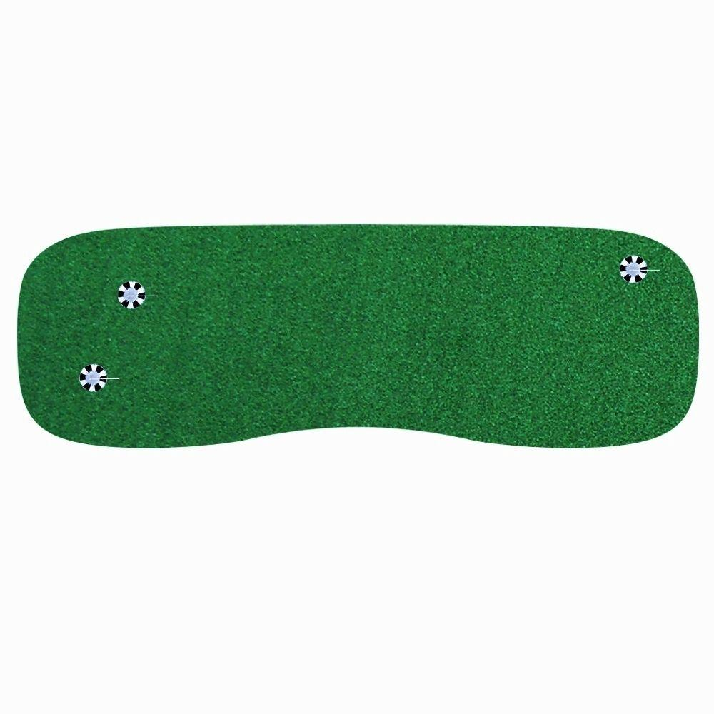 StarPro Greens 3 ft. x 9 ft. Indoor Outdoor Synthetic Turf 3-Hole Golf Practice Putting Green