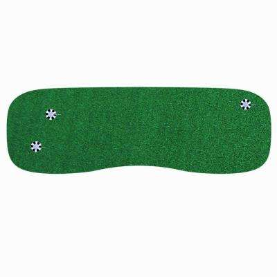 3 ft. x 9 ft. Indoor Outdoor Synthetic Turf 3-Hole Golf Practice Putting Green